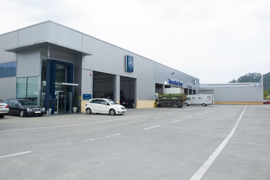 Taller de camiones Mercedes Cantabria Sancisa