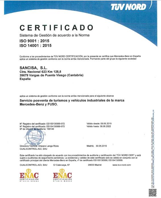 Imagen certificado ISO junio 2019